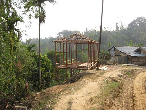 Construction For House On Stilts